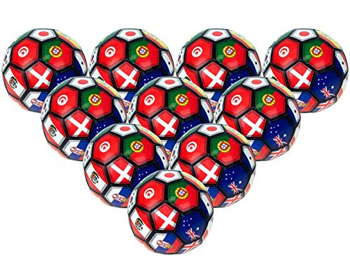 742ee6750 2Moda 30 Pack - Bulk Soccer Balls Size 5 in Multi-Country Print, Wholesale
