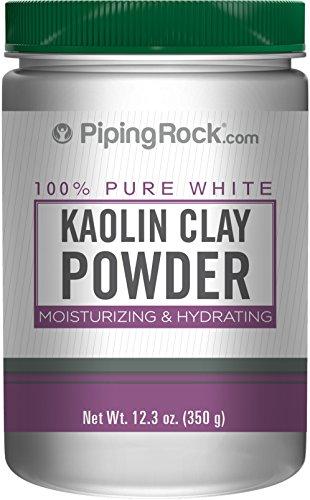 Piping Rock Kaolin Clay Powder 100% Pure White 12.3 oz (350 Grams) Bottle