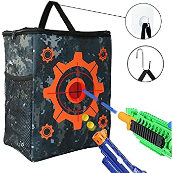 Target Pouch Storage Bag for Tactical Nerf Gun Games and 2 pcs Hooks Target  Toys for Nerf N-strike Elite / Mega / Rival Series