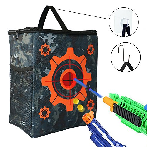 Target Pouch Storage Bag For Tactical Nerf Gun Games And 2 Pcs Hooks Target Toys For Nerf N Strike Elite   Mega   Rival Series