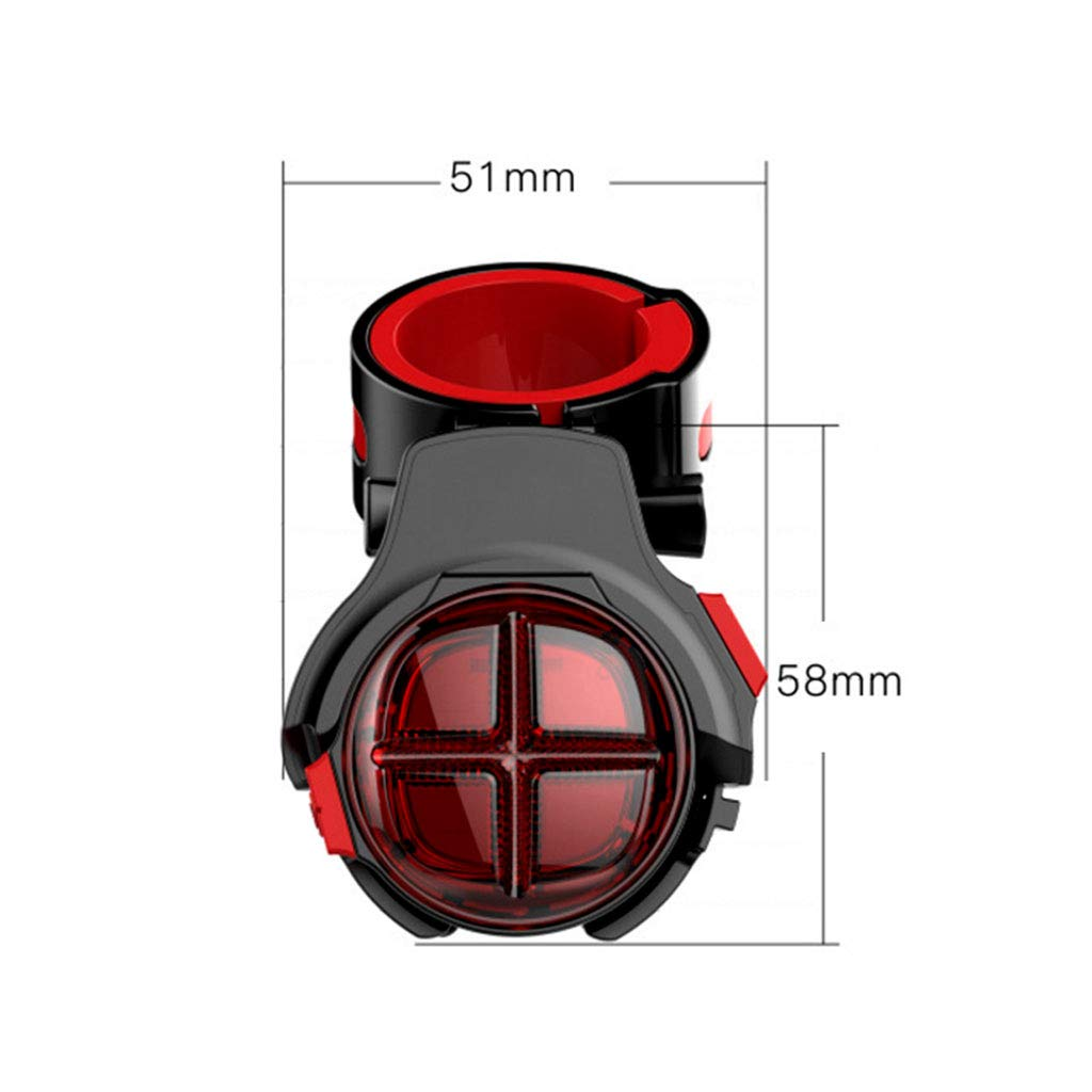 CUTEQ Bicycle Tail Light Brake Sensor Warning Lamp with USB Rechargeable Waterproof for Optimum Cycling Safety at Night by CUTEQ (Image #5)