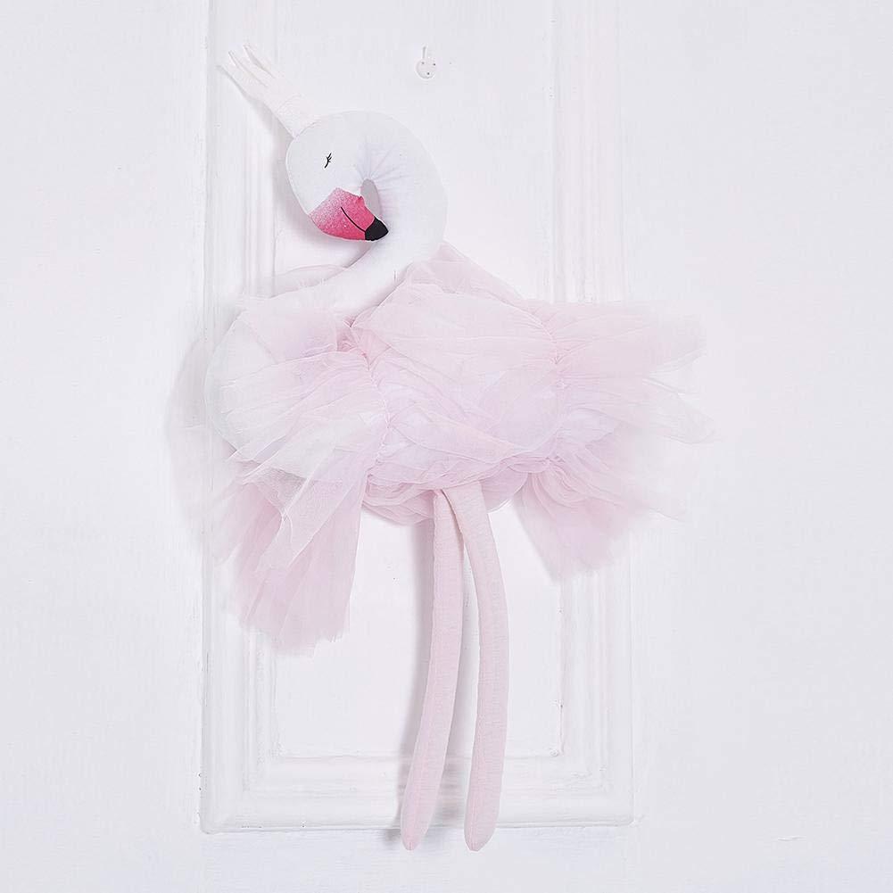 Krone Schwan Stofftier Spielzeug Kissen Baby Appease Puppe Home Dekoration Biback Schwanenpuppe weiche rosa Spitze