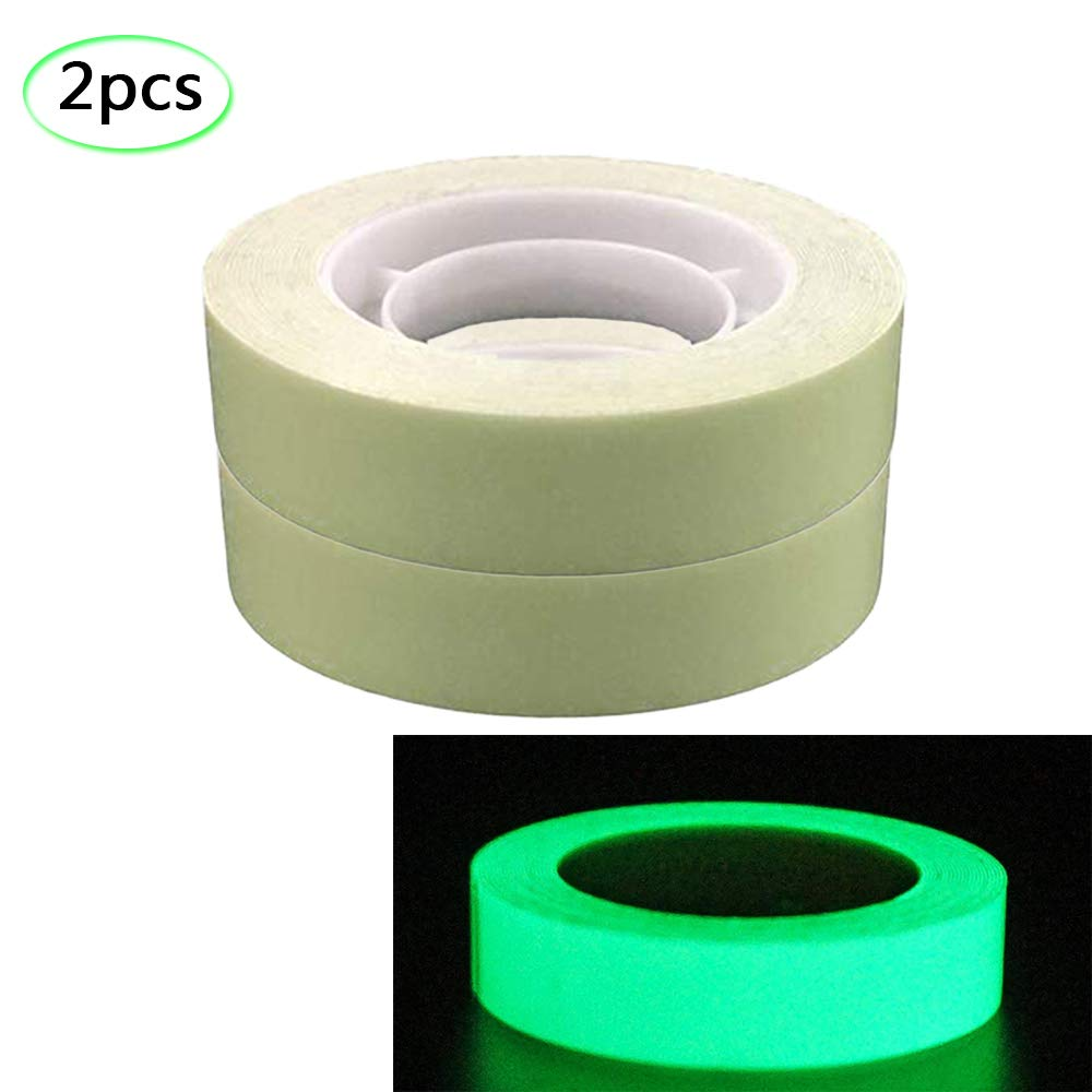 Glow in The Dark Tape Sticker,Green Light Luminous Tape Sticker Removable Waterproof Safety Warning Tape for Decoration, Illuminating Objects Motige
