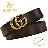 Women's Genuine Leather Thin Belts For Jeans 0.9' Width With Metal Buckle...