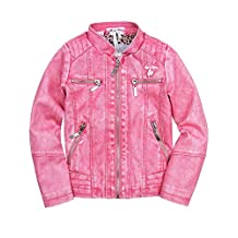 Le Chic Baby Girl's Pleather Jacket, Sizes 12M-24M