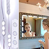 Vanity Makeup Lights Kit Geefawa 10ft 60 LED Hollywood Style Mirror LED Light DIY Light Kits for Bathroom Cosmetic Mirror Decoration with Dimmer Controller(Mirror Not Included)