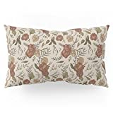 Society6 Antique Floral Pattern Pillow Sham King (20'' x 36'') Set of 2