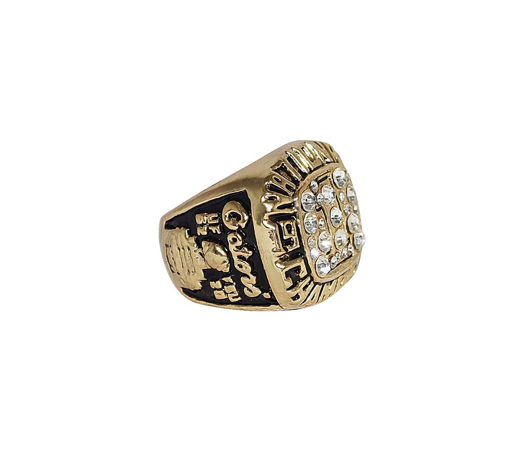 UNIVERSITY OF FLORIDA GATORS (Jones) 1996 SUGAR BOWL NATIONAL CHAMPIONS (Playing Vs. FSU) Vintage Collectible High Quality Replica NCAA Football Gold Championship Ring with Cherrywood Display Box