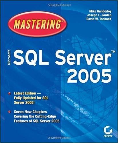 Mastering Microsoft Sql Server 2005 Pdf