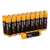 Silicon Power 20 Pack AAA Alkaline Batteries - 1.5V Anti-Leakage Protection (SPAL03ABAT20SV1KAE)