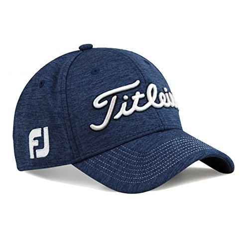 Titleist Pro V1 Hat (2017 Titleist Men's Golf Cap(Dobby Tech, Sports Mesh, Players Deep Back) (M/L, Players Deep Back, Navy-White))