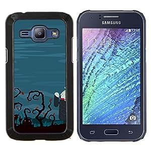 LECELL--Funda protectora / Cubierta / Piel For Samsung Galaxy J1 J100 -- El zombi divertido Tech --