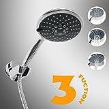 JiANAN Multi-function Shower Heads, Chrome Finish Water Saving Handheld Shower, JN165