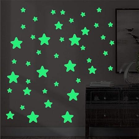Bas de la vie de petites à grandes lueur dans l/'obscurité luminescent autocollants en vinyle Décalcomanie