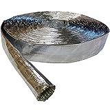 10mm (0.4'') Aluminum Coated Fiberglass Heat Reflective Sleeving - 25FT