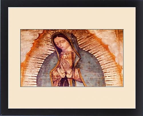 Framed Print of Original Virgin Mary Guadalupe Painting which was revealed by Indian Peasant by Fine Art Storehouse
