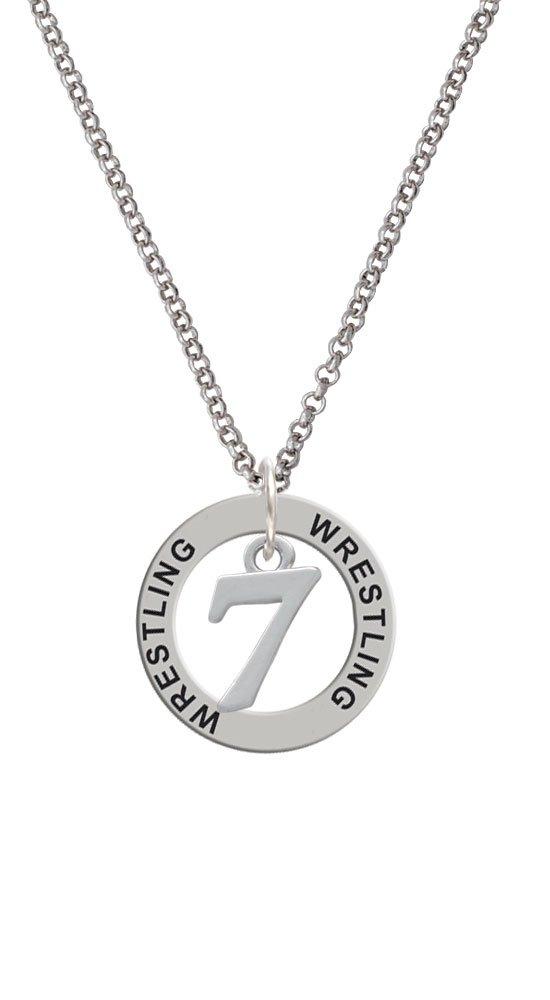 Number - 7 - Wrestling Affirmation Ring Necklace