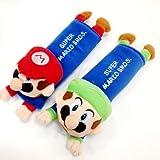 Mario & Luigi Plush Seat Belt Cover Shoulder Pad