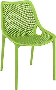 Clear Chair Store 014 Air Indoor and Outdoor Stacking Dining Chair, Tropical Green, Set of 2 (Discontinued by Manufacturer)