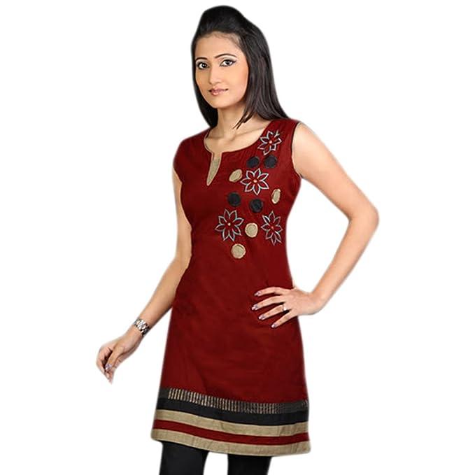 1545 Designs Mujeres camiseta con cuello redondo floral / blusa / vestido: Amazon.es: Ropa y accesorios