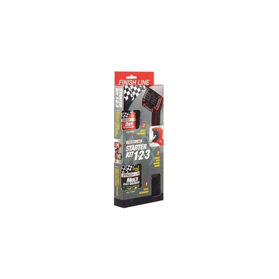 Finish Line Starter Kit 1 2 3: Grunge Brush + 2oz DRY Lube + 4oz Multi Degreaser