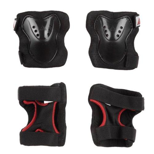 K2SK8Hero Pro Juego de Pad para Niños, color negro/rojo, negro