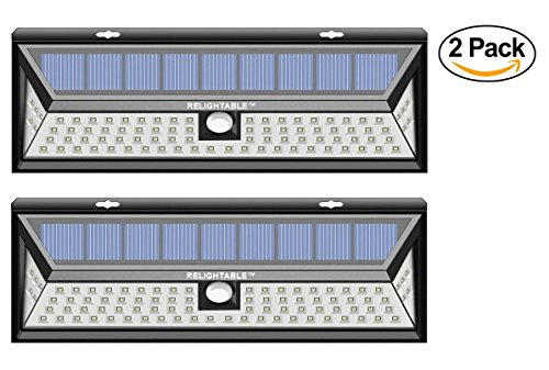 RELIGHTABLE Solar Powered 86 LED 3D Wide Angle Motion Sensor 3-Model Light MS86 (2PACK) by RELIGHTABLE