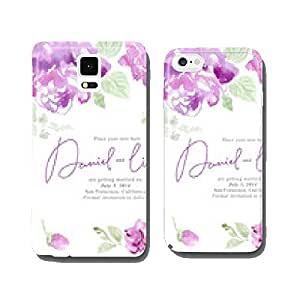 Watercolor flowers card cell phone cover case Samsung S5