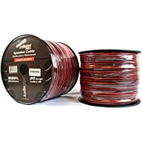 Two Rolls 20 Gauge 1000 Speaker Zip Wire Copper Clad Red Black 12V Audio Cable