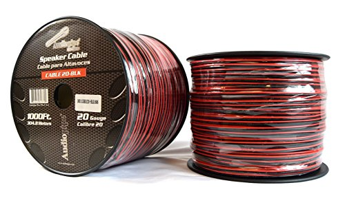 Two Rolls 20 Gauge 1000\' Speaker Zip Wire Copper Clad Red Black 12V ...