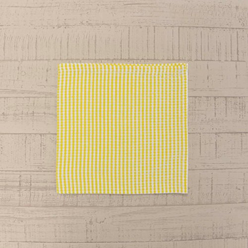 VHC Brands Farmhouse Tabletop & Kitchen - Keeley Yellow Napkin Set of 6, (Napkins Yellow Gingham)