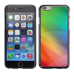 TopCaseStore / la caja del caucho duro de la cubierta de protección de la piel - Color Tones Green Yellow - Apple iPhone 6 Plus 5.5