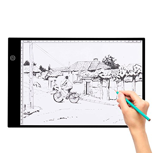 Adjustable Brightness A4 Ultra Thin LED Light Box Tracer USB Powered for Artists Drawing Sketching Animation Designing X-ray Viewing by Spaco