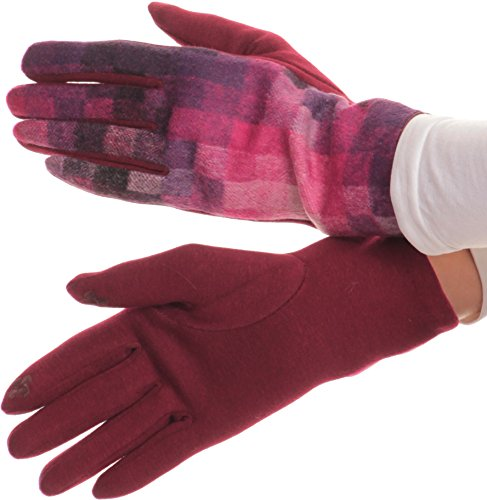 [Sakkas 16168 - Kade Pixel Ombre Multi Colored Patterned Warm Touch Screen Winter Gloves - Pink -] (Pixel Gloves)