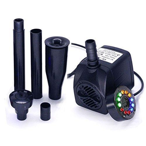COODIA 15 W 110 V 750 L por Hora (200 GPH) Sumergible Bomba de Acuario Estanque Fuente de Peces Tanque Agua hidropónico con...