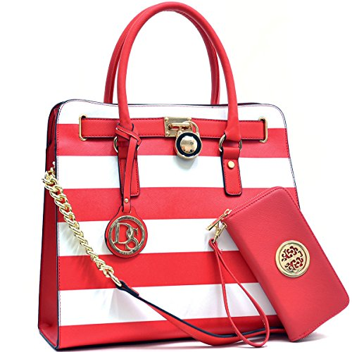 MMK collection Women Fashion Pad-lock Satchel handbags wi...