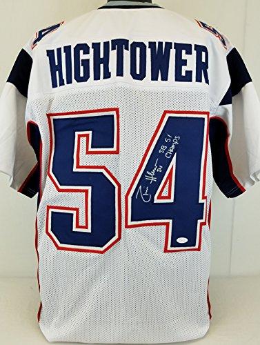 Donta Hightower  Sb 51 Champs  Patriots Signed White Jersey Jsa Witness Auto