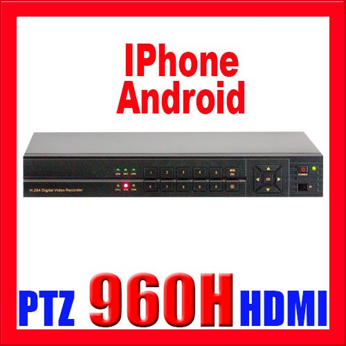 Professional 16 Channel H.264 960H & D1 Realtime DVR with HDMI & VGA. 4 CH WD1 +12 CH WCIF Recroding +16 CH playback. iPhone, Android Viewing (NO HDD INSTALLED)