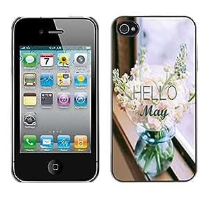 - Hello May - - Caja del tel???¡¯????fono delgado Guardia Armor FOR iPhone 4 / 4S Devil Case