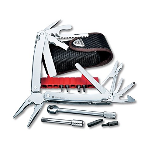 Victorinox Swiss Army SwissTool Spirit Plus Ratchet Multi-Tool, Includes Nylon Pouch