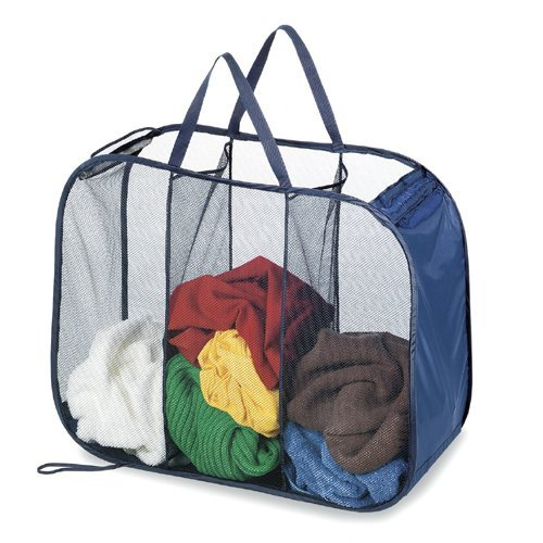 Innovative Home Creations 6000 3 Compartment Storage Hamper Sorter 30 INCH x 11 INCH x 24 INCH Colors- Assorted- by Innovative Home Creations   B003XJAIX4