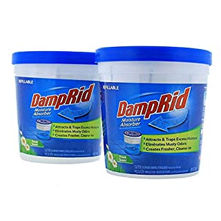 DampRid Fresh Scent Refillable Moisture Absorber - 10.5oz cups - 2 pack – Traps Moisture for Fresher, Cleaner Air