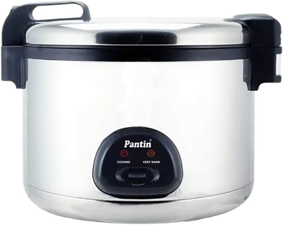 Pantin 110 Cup Cooked (55 Cup Raw) Electric Rice Cooker and Warmer for Commercial Restaurant Large Capacity - 220V, 2850W (ETL Listed)