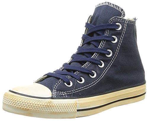 Uomo Twill All Washed Back Vintage Star Taylor HI Converse Vintage Zip Washed Navy Twill Homme Chuck Sneaker xwnzE6UT7