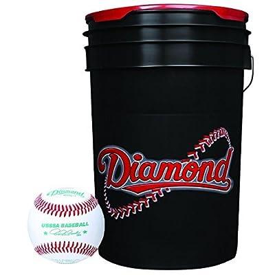 Image of Baseballs Diamond 6-Gallon Ball Bucket with 30 USSSA DOL-1 Baseballs