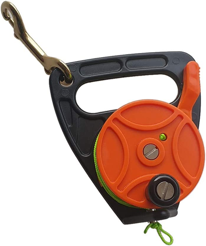 150ft Line for Scuba Diving Diver SMB MagiDeal Heavy Duty Dive Reel /& Thumb Stopper Snorkeling and Spearfishing Choose Colors Plastic Handle