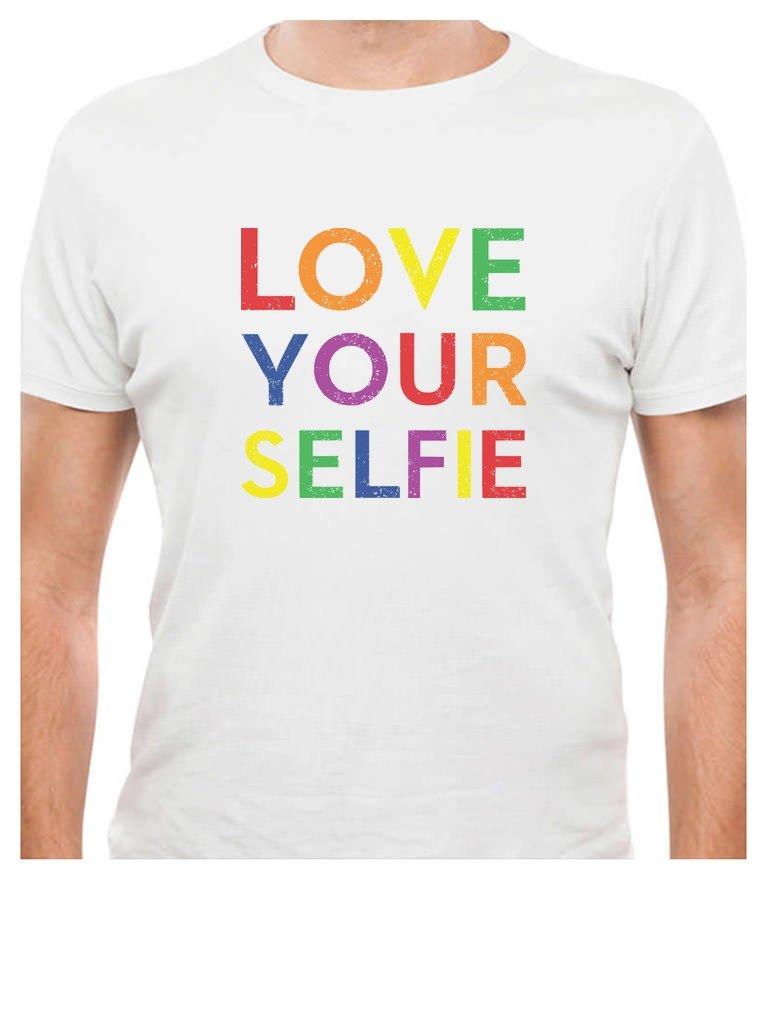 Love Your Selfie Rainbow Gay Lesbian Pride T Shirt 3490