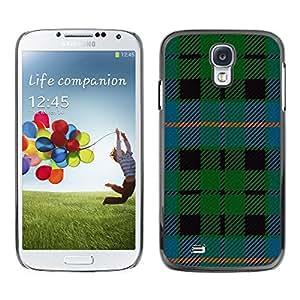 LASTONE PHONE CASE / Carcasa Funda Prima Delgada SLIM Casa Carcasa Funda Case Bandera Cover Armor Shell para Samsung Galaxy S4 I9500 / Cool Fabric Green Blue Stripes