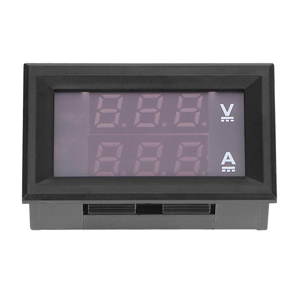 Mini voltmetro amperometro digitale DC 100 V 10 A con cavo blu rosso doppio amperometro indicatore di tensione display LED
