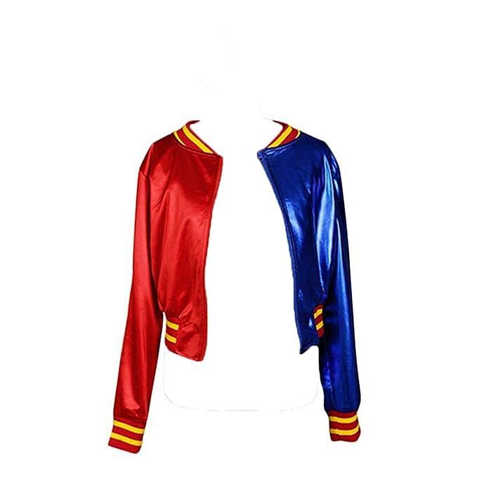 Chaqueta para disfraz de Harley Quinn, manga larga, cuello ...